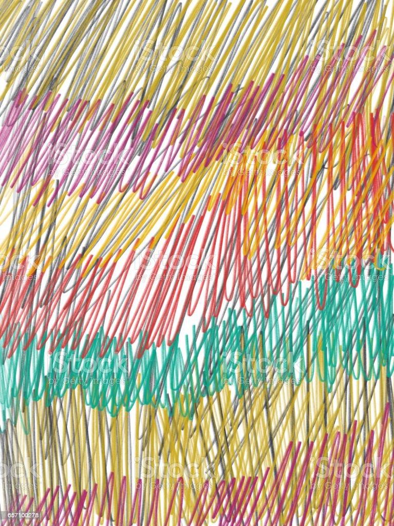 multicolor pencil scribble. stock photo