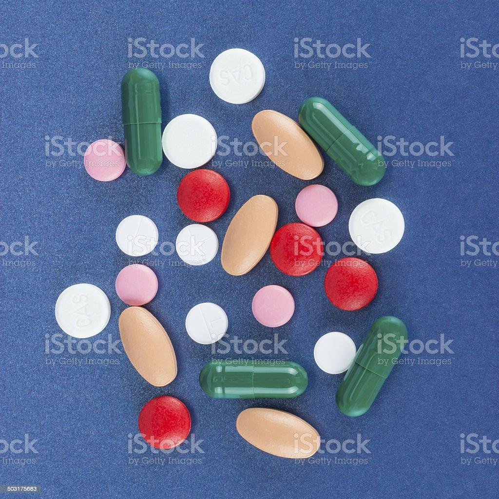 Multicolor pills stock photo