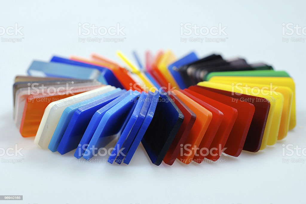 multicolor plastics royalty-free stock photo