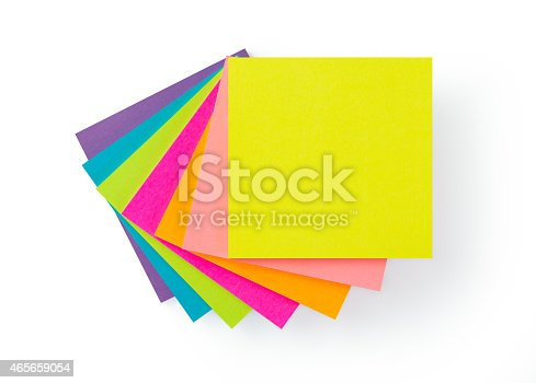 istock Multicolor post-it sticky note pads 465659054