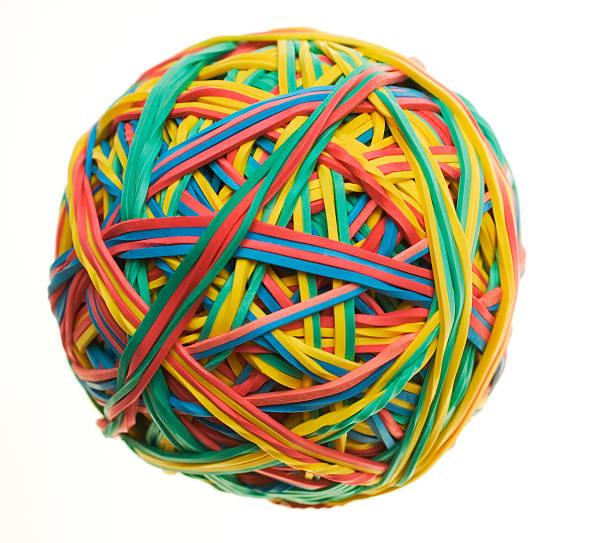 Mehrfarbig Rubberband Isoliert – Foto