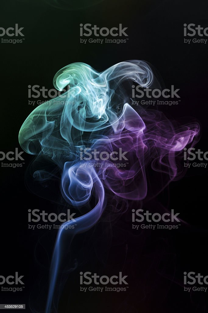 multicolor smoke rises up royalty-free stock photo