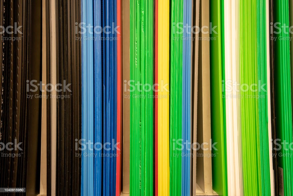 Multicolor stripes of future board in vertical for abstract background. stock photo