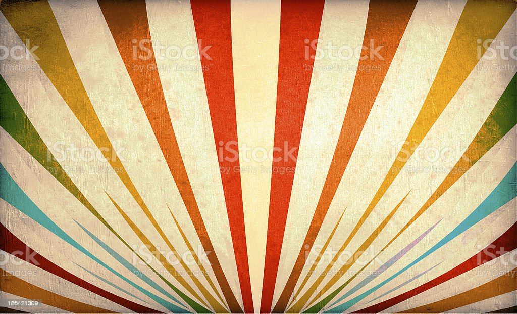 Multicolor Sunbeams grunge background stock photo