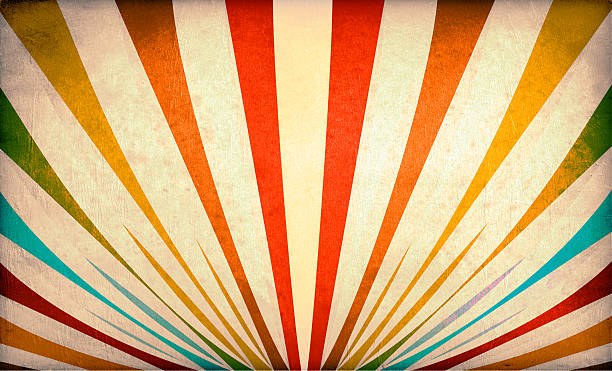 multicolor sunbeams grunge background - circus background stock photos and pictures