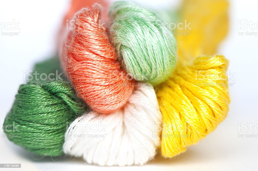 Multicolor threads clew royalty-free stock photo