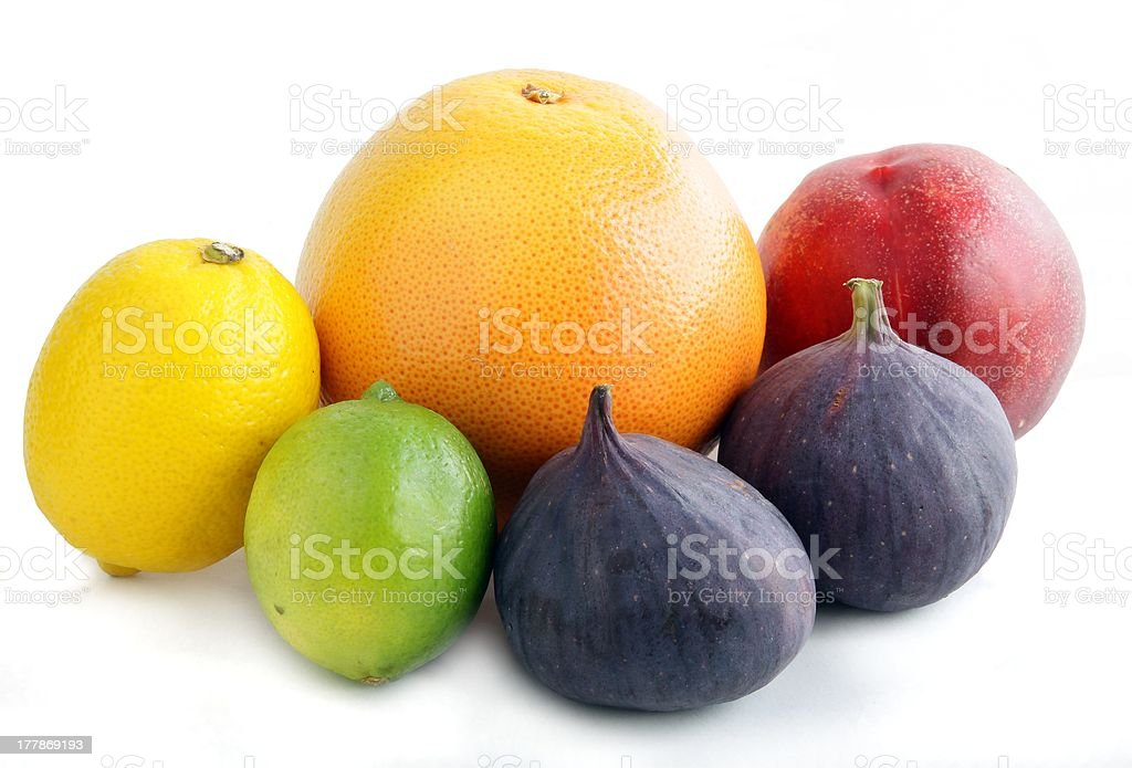 multicolor tropical fruits royalty-free stock photo