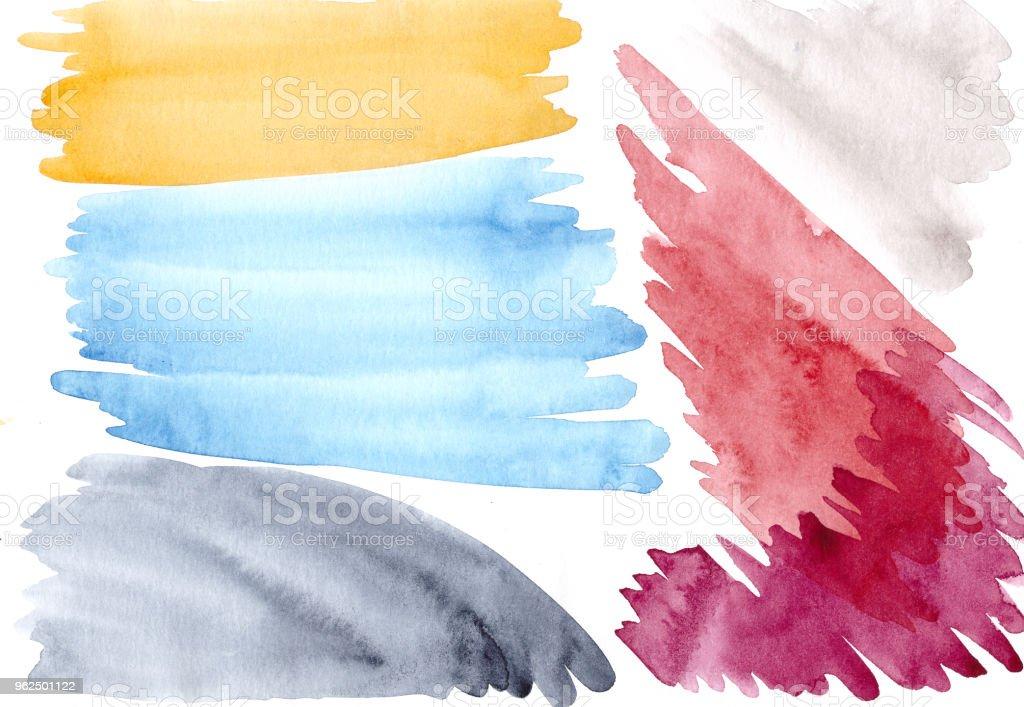 Multicolor fundo aquarela para as necessidades dos designers, web, design gráfico, tipografia, revistas. - Foto de stock de Abstrato royalty-free