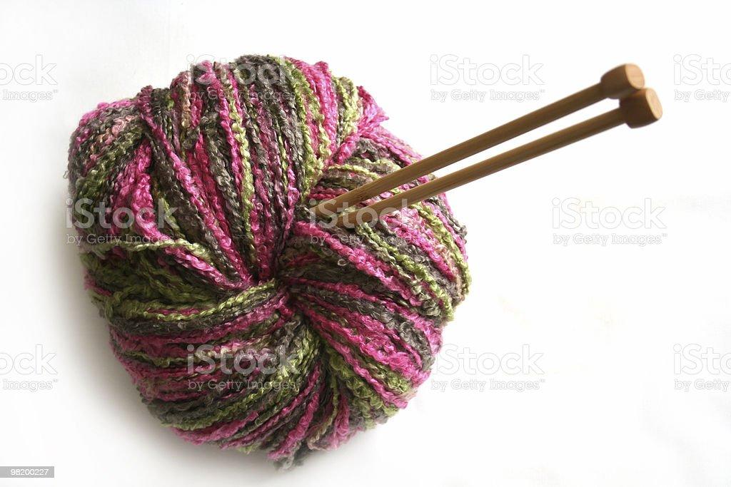 multicolor yarn royalty-free stock photo