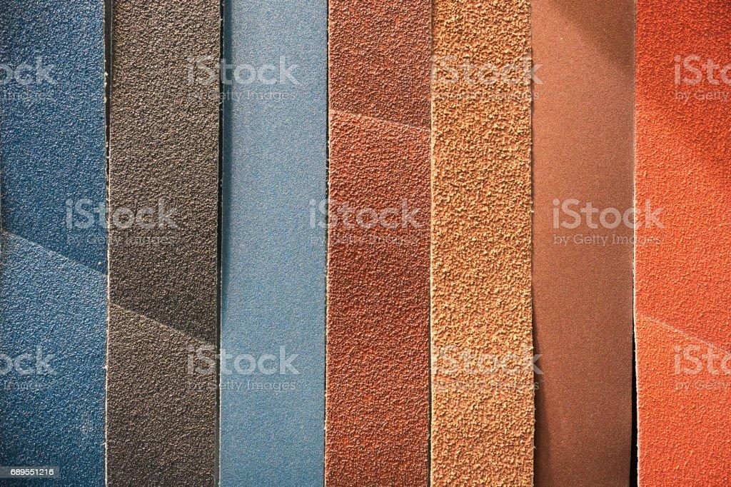 Multicolored abrasive tape stock photo