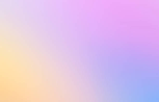 multicolored abstract blurred gradient mesh background in bright rainbow. colorful hologram fairy magic  backdrop in pastel colors - hologram imagens e fotografias de stock