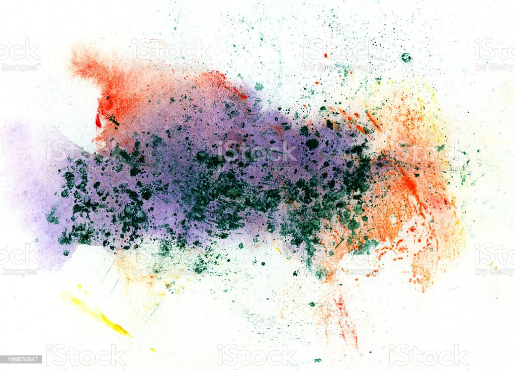 Multicolored abstract painted splashes royalty-free stock photo