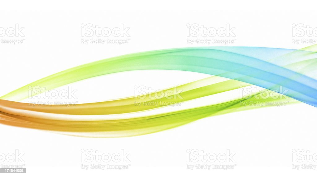 Multicolored abstract wave stock photo