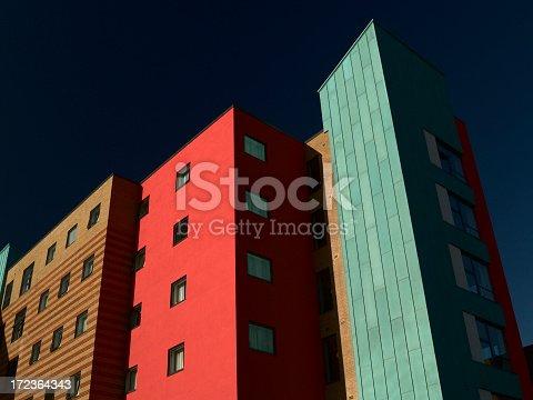istock Multicolored apartment block 172364343