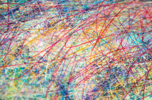 Multicolored art pastel background texture. Child drawing stock photo
