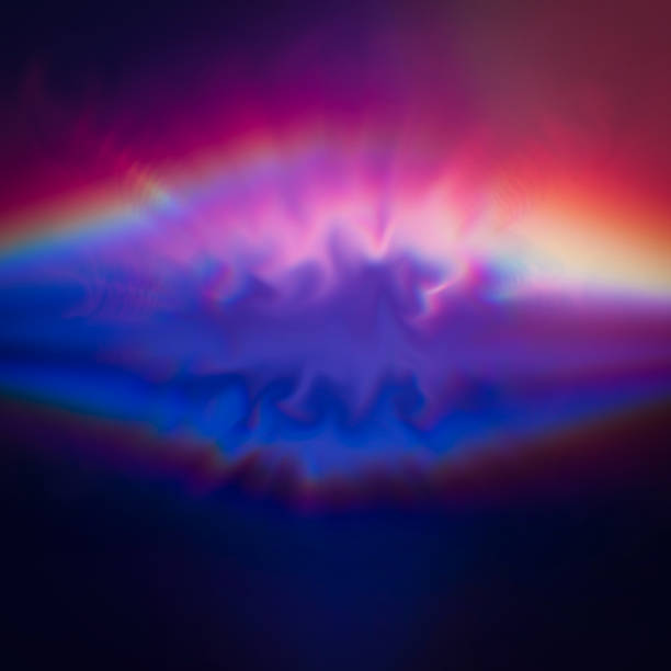multicolored aura of light abstract background art - aura stock photos and pictures