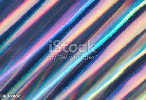 istock Multicolored background imitating hologram as trendy backdrop. 1014888238