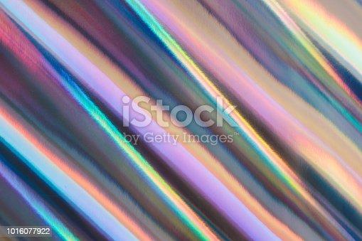 istock Multicolored background imitating hologram as trendy backdrop. 1016077922