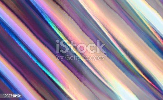 istock Multicolored background imitating hologram as trendy backdrop. 1022749404