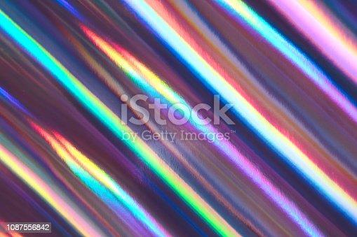 istock Multicolored background imitating hologram as trendy backdrop. 1087556842