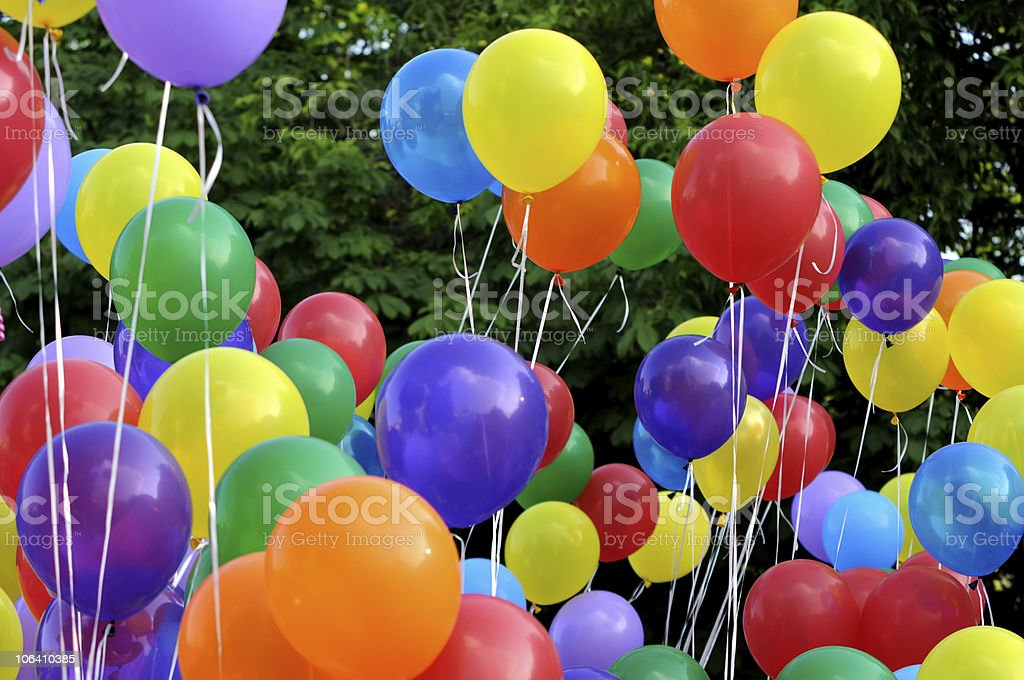 multicolored balloons royalty-free stock photo