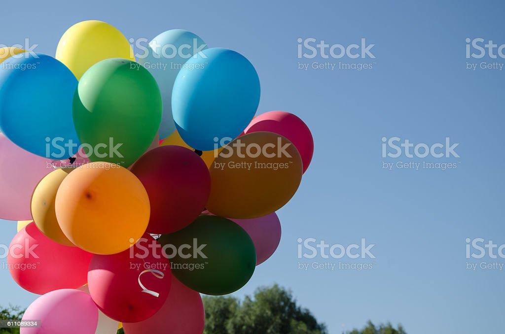 multicolored balloons stock photo