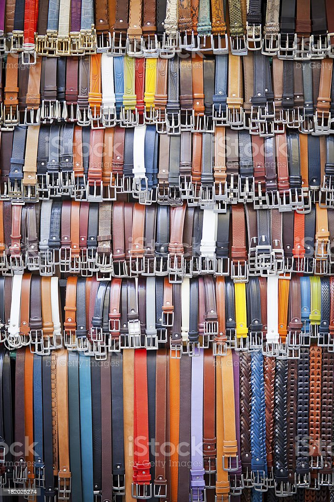 Multicolored belts royalty-free stock photo