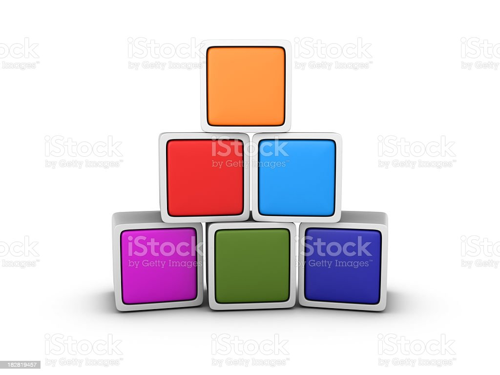 Multicolored Blank Blocks royalty-free stock photo