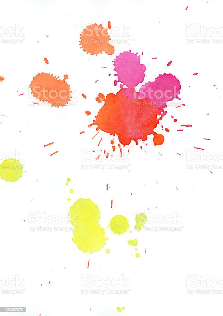 Multicolored blobs royalty-free stock photo