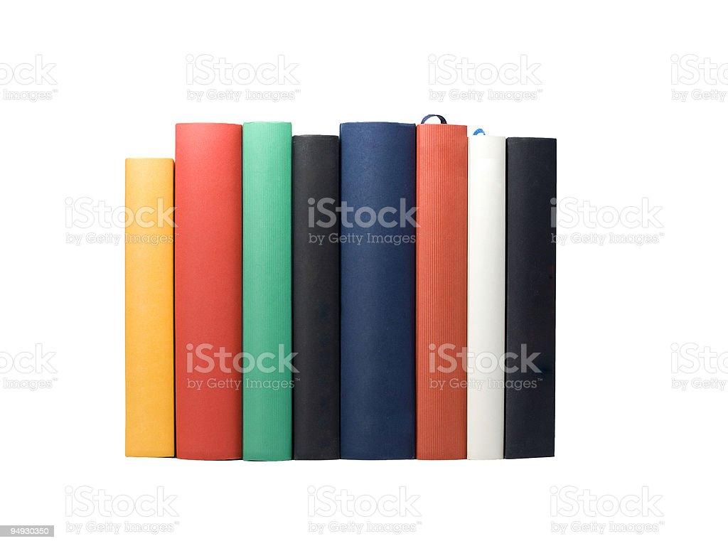 multicolored book backs stock photo