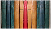 istock ANTIQUE Multi-colored bookbinding of books by Russian authors. 1125421185