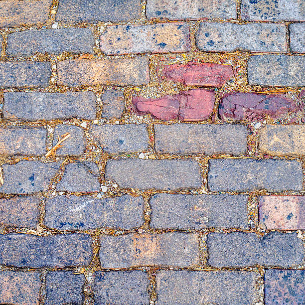 Multicolored brick abstract background texture stock photo
