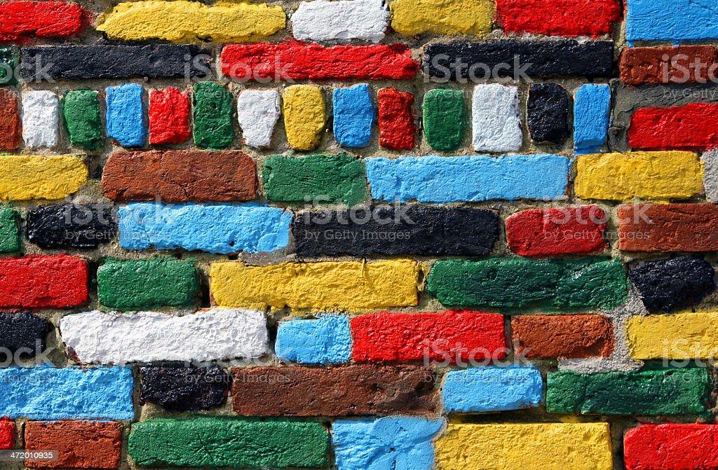 multicolored brick wall foto