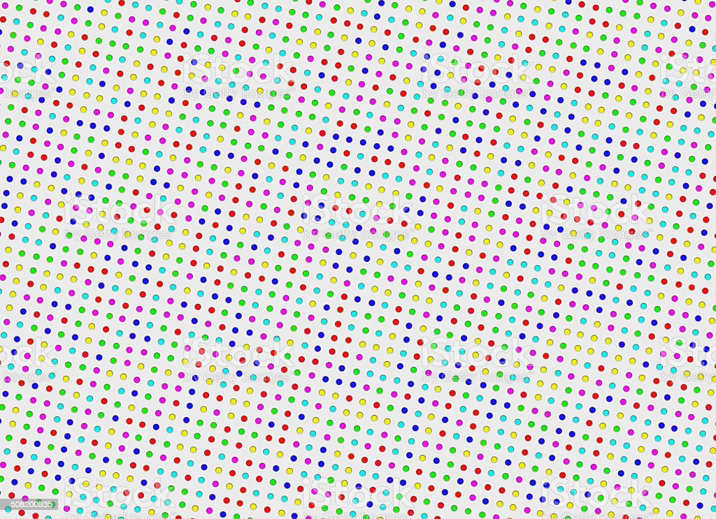 multicolored bright polka dots pattern. Abstract backgrounds stock photo