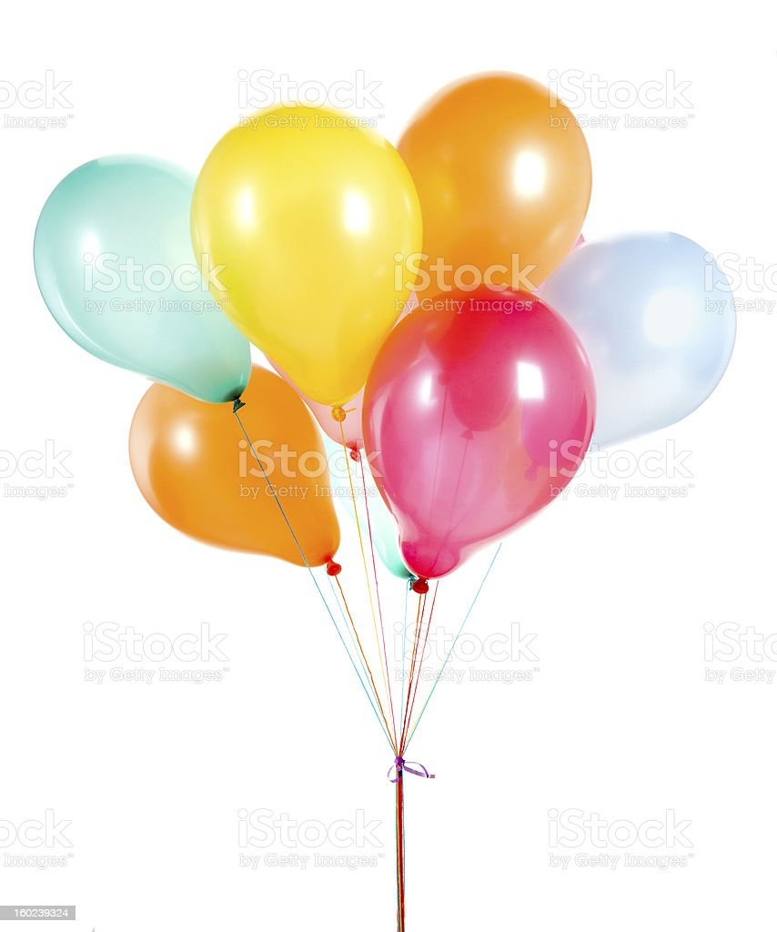 Multicolored bundle of balloons royalty-free stock photo