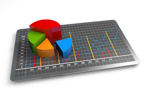 istock 3D multi-colored business growth graph on white background 173722648