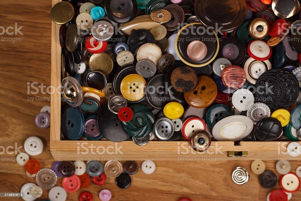 Botões multicolorida - foto de acervo