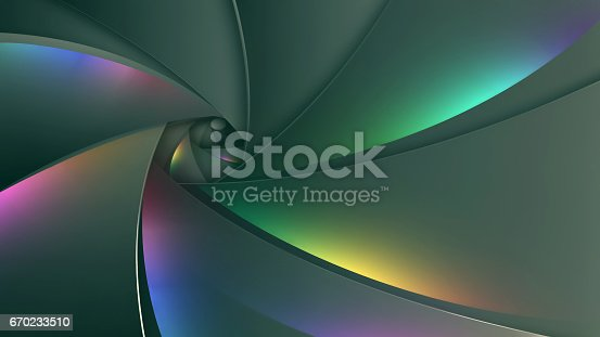 multicolored abstract background in the shape of camera lens