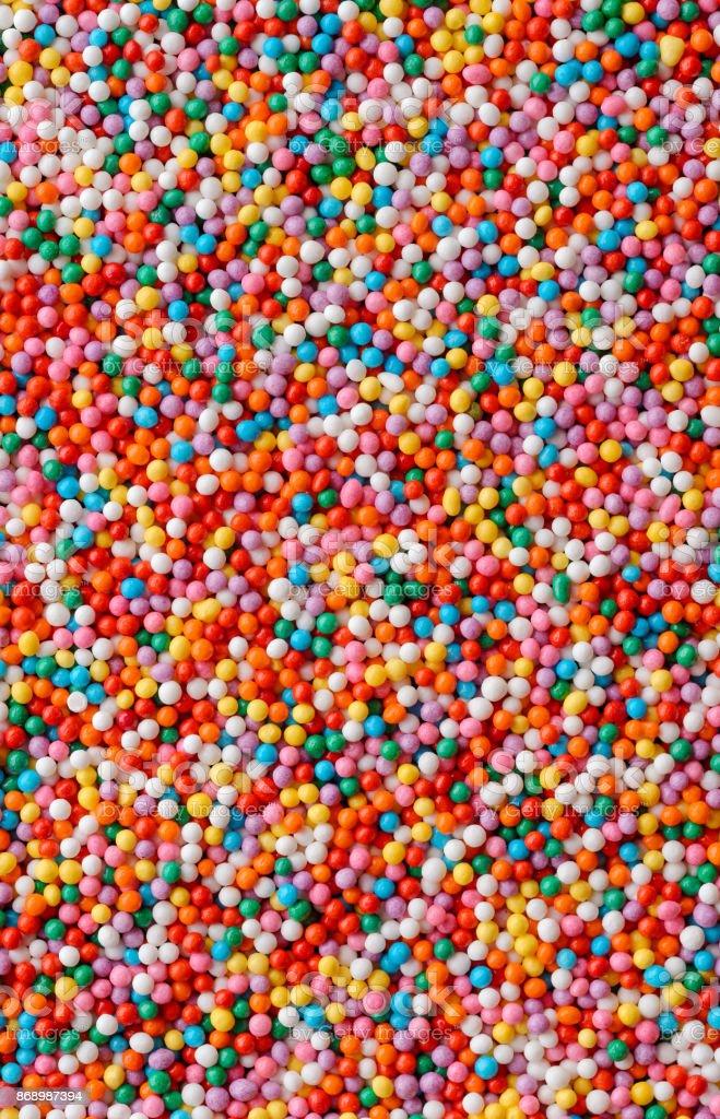 Multicolored candy drops stock photo