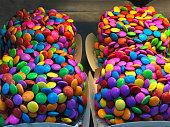 色とりどりのキャンディ。