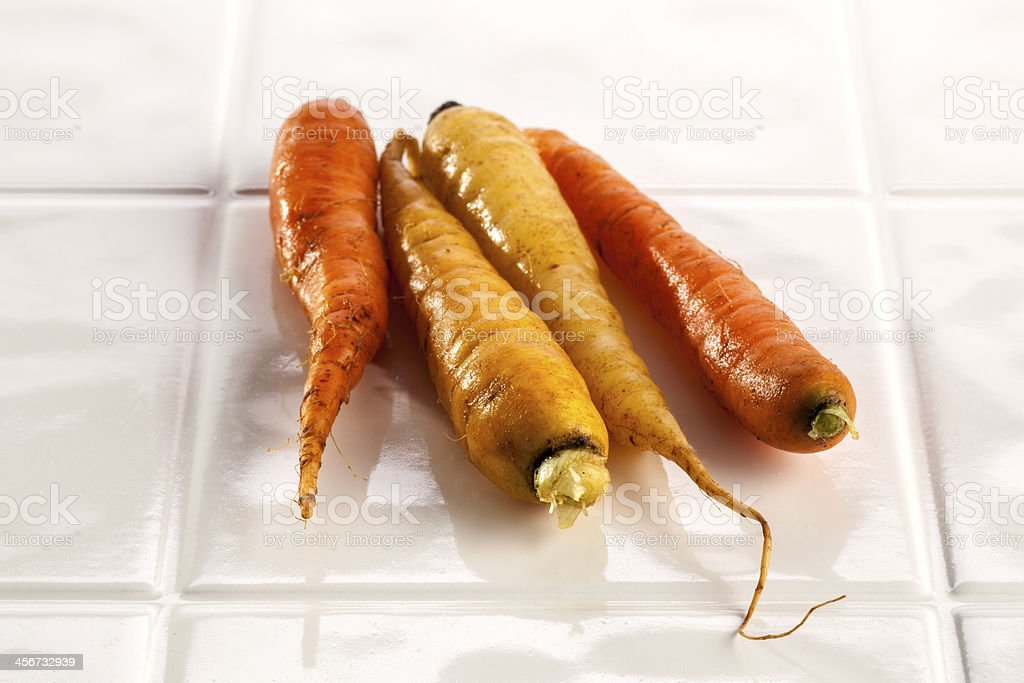 Multicolored carrots royalty-free stock photo