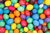 background from multi-colored chocolate sweet candies close up