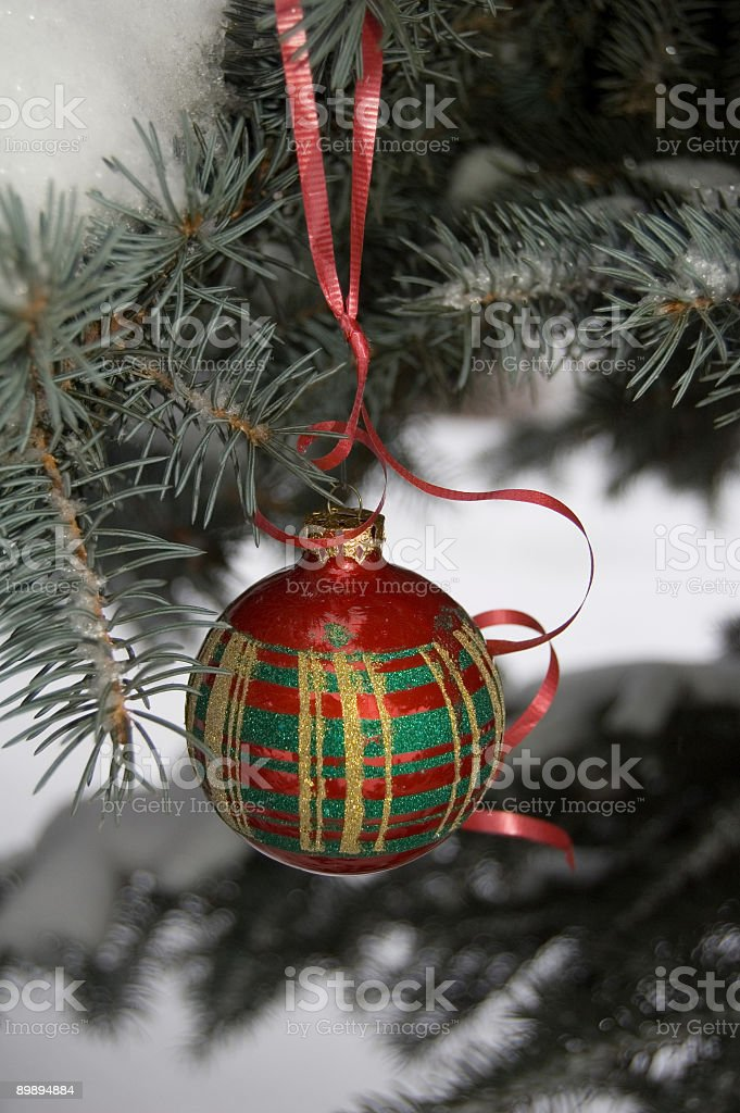 Multicolored Christmas Ornament royalty-free stock photo