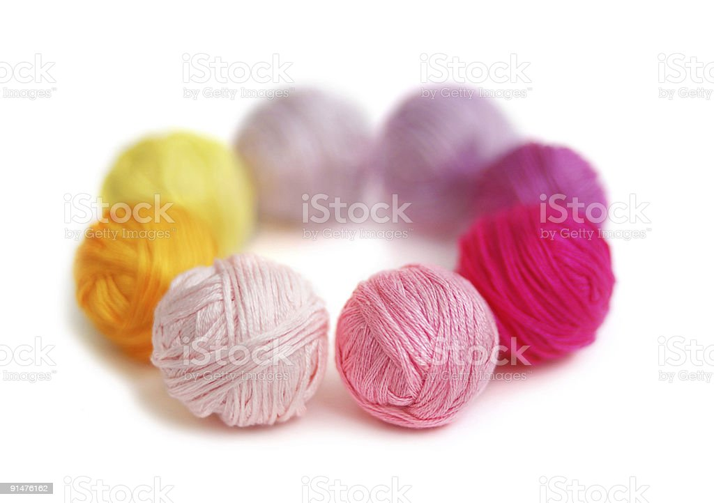 Multicolored clews royalty-free stock photo