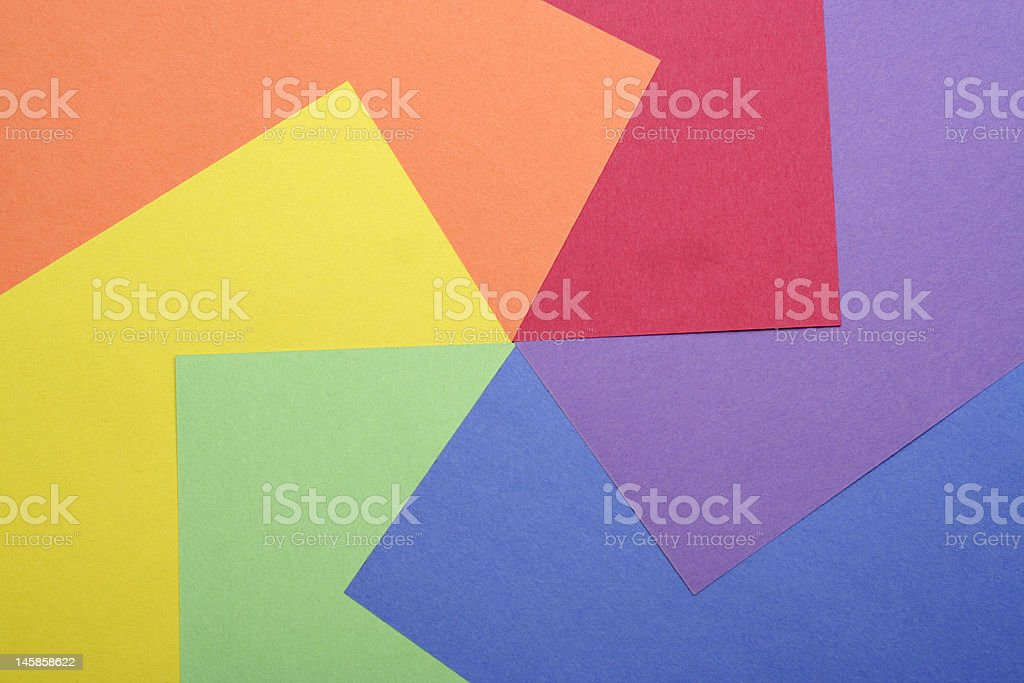Multicolored Construction Sheets - Circular Design stock photo