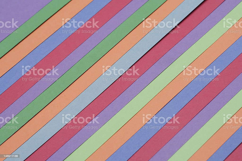 Multicolored Construction Sheets - Rainbow stock photo