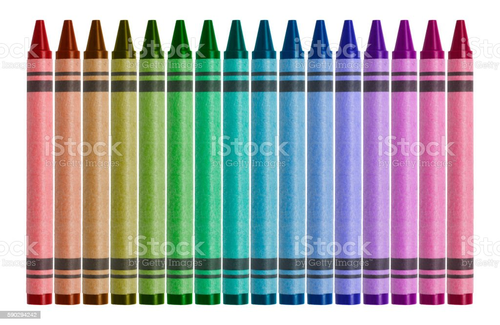 Multi-colored Crayons Isolated on White Background Стоковые фото Стоковая фотография