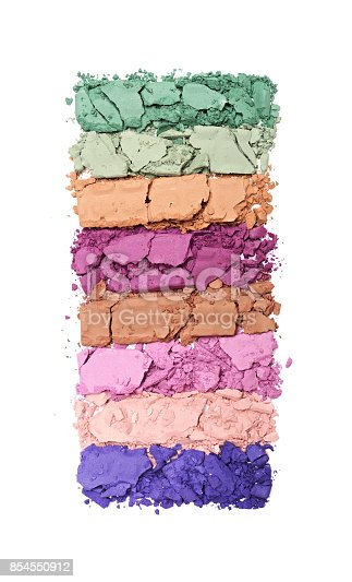istock Multicolored crushed eyeshadows 854550912