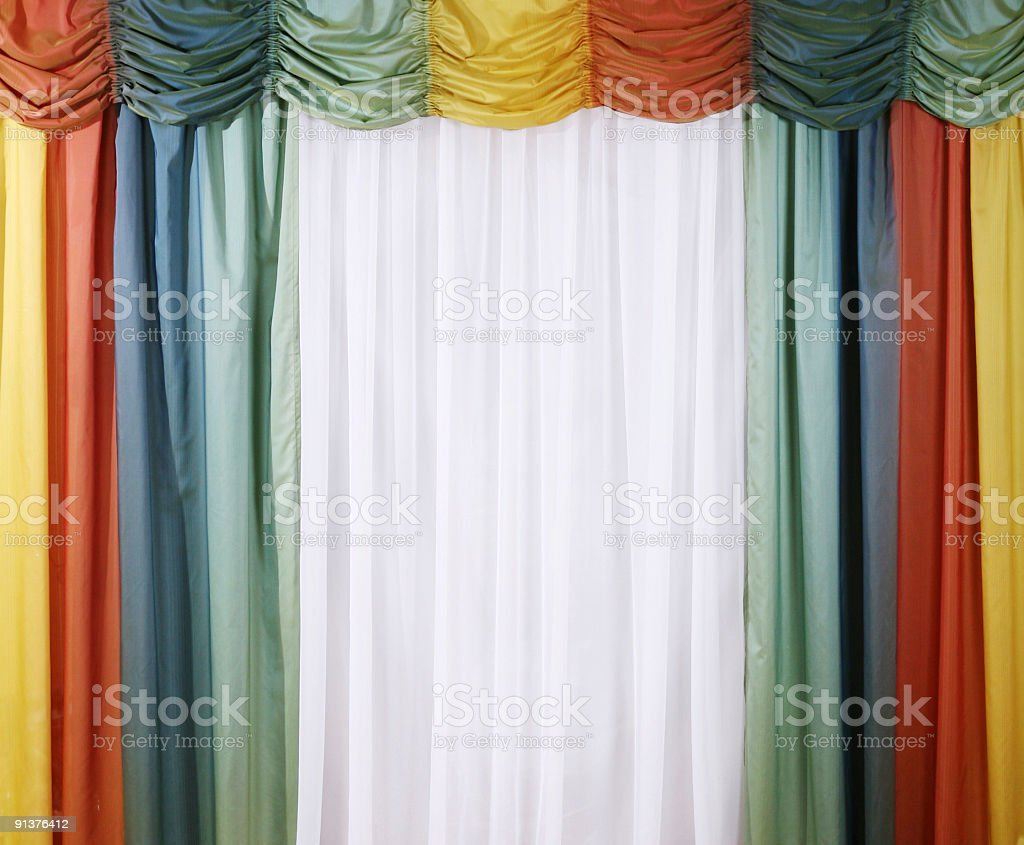 multicolored curtain royalty-free stock photo