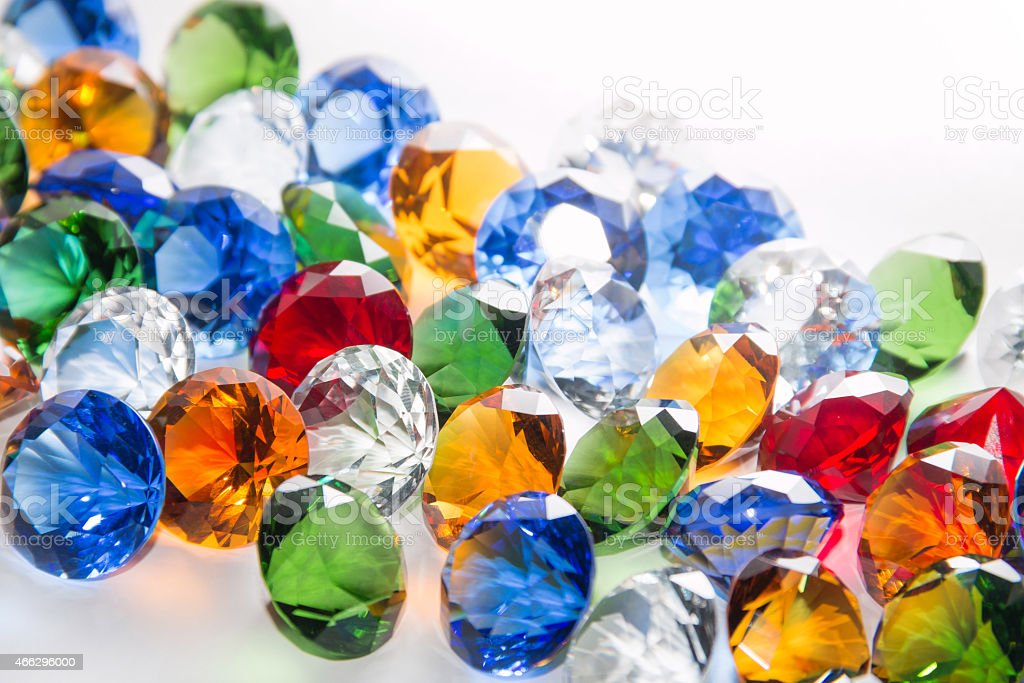 Multicolored Diamonds Background stock photo